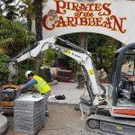Pirates des Caraïbes, Parc Disney - Panachage de granits